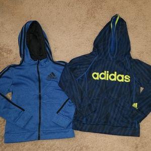 Lot of 2 ADIDAS hoodies